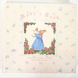 Vintage Bunny Themed Baby's Book